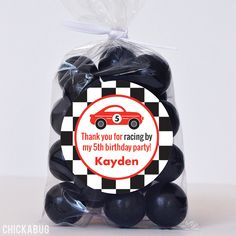 Paper goods and DIY printables for parties and holidays Race Car Birthday, Race Car Party, Cars Birthday Parties, Birthday Party Favors, Cars Party Favors, Party Favor Bags, Teacher Party, Personalized Favors, Paper Goods