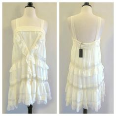 Whitney Eve Cream Ruffle Dress NWT. See comments. Sold at Anthropologie PRICE FIRM UNLESS BUNDLED Anthropologie Dresses