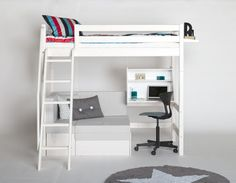 Lovely loft bed with sofa component - ingenious design