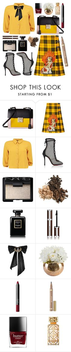 """that look"" by shanelala ❤ liked on Polyvore featuring Salvatore Ferragamo, Gucci, Boohoo, Christian Louboutin, NARS Cosmetics, Chanel, Givenchy, Oscar de la Renta and Tory Burch"