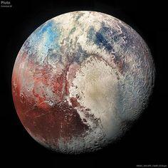 2015-07-04 tarihinde New Horizons uzay aracı tarafından Plüton'nun 450.000 km uzağından gerçek rengine yakın resmi. #plüton #pluto #planet #gezegen #fotoğraf #photography #photograph