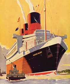 Fascinating photographs and artwork recalling the heyday of the passenger steamship.