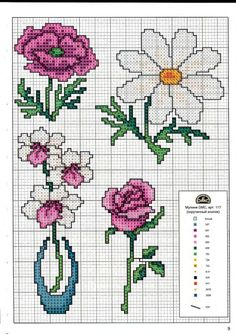 Gallery.ru / Фото #9 - Вышиваем крестом цветы, букеты, деревья - tymannost