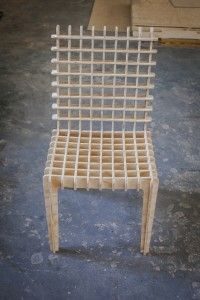 What a cool chair! I suddenly feel like a waffle for lunch. Weird.