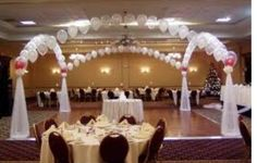 Balloon Arch and canopy for dance floor