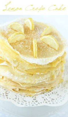 16. #Lemon Crepe Cake - 21 #Crepes That Make Mealtime #Really Special ... → Food #Bacon