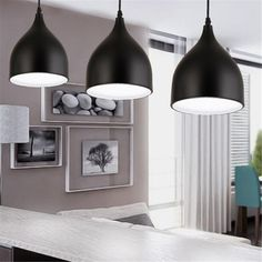 """Features: Color: White, Black Material: Aluminium Lampshade Size: Approx. 170x210mm/ 6.69x8.27"""""""