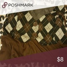 Shirt Checkered like brown, black, and tan shirt. Tops Blouses
