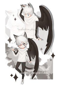 Materi Pelajaran 4: Anime Wolf Boy With White Hair