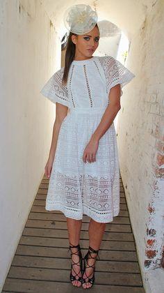 Filly Dress White $99.00