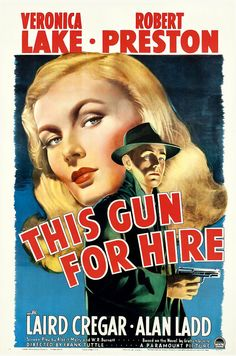 This Gun For Hire Vintage Film Noir Movie Poster by FoxgloveMedia