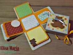 Caixa Surpresa - Mini album de Scrapbook