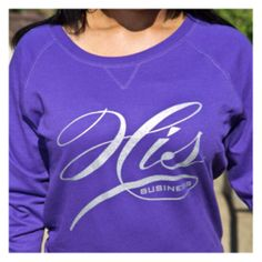 Purple lightweight sweatshirt