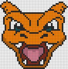 Pokemon Battle Trozei Charizard Perler Bead Pattern / Bead Sprite