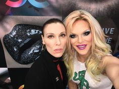 Deven and Willam at the OCCmakeup booth IMATSLA 2016