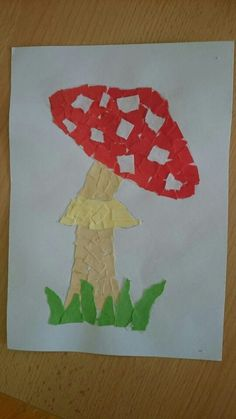 mushroom craft idea for preschooler (2)  |   Crafts and Worksheets for Preschool,Toddler and Kindergarten