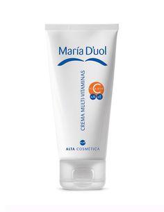 Crema Multivitamínica de María D'uol -  Es 3 en 1: antiarrugas, antimanchas y refirmante. Contiene Retinol, Vitamina C, E, extracto de avena, de malta y filtros solares.