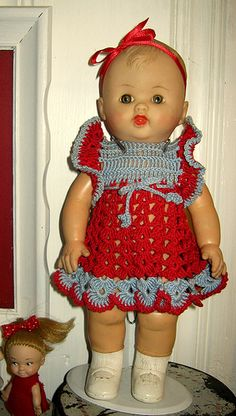 old vintage baby doll