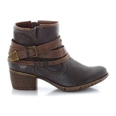 image Heeled, Zip-Up Boots with Straps MUSTANG SHOES