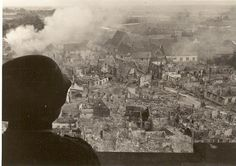 View over a ravaged town