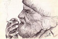 in-gedanken nach Foto gezeichnet Quelle: piqs.de http://piqs.de/fotos/96401.html