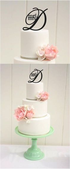 Start your marriage off beautifully with a gorgeous laser cut monogrammed cake topper! | Made on Hatch.co by independent makers & designers