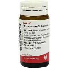 ROSENEISEN Globuli:   Packungsinhalt: 20 g Globuli PZN: 08787436 Hersteller: WALA Heilmittel GmbH Preis: 5,99 EUR inkl. 19 % MwSt. zzgl.…