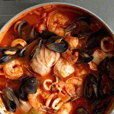 Cioppino (San Francisco style)                                                                             Christmas or New Years Tradition in our home.