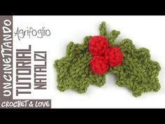 Tutorial Uncinetto - Agrifoglio con Bacche (sottotitoli in inglese e spagnolo) - YouTube Holly Leaf, Free Pattern, Spanish, Berries, Youtube, Christmas, Lana, Macrame, Tutorial Crochet