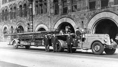 Boston, MA FD Ladder 15 1935 Seagrave 85' Aerial. my home will be covered in black and white photos of the city.