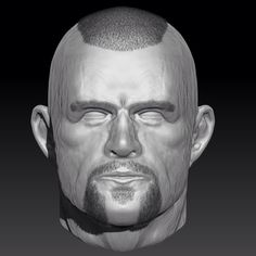 3D Face modeling. MMA figther. Cgi scultping. Wip