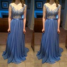 Lace Prom Dresses,Blue Prom Dress,Modest Prom Gown,A Line Prom Gown,Lace Evening Dress,Cap Sleeves Evening Gowns,Lace Party Gowns PD20185116
