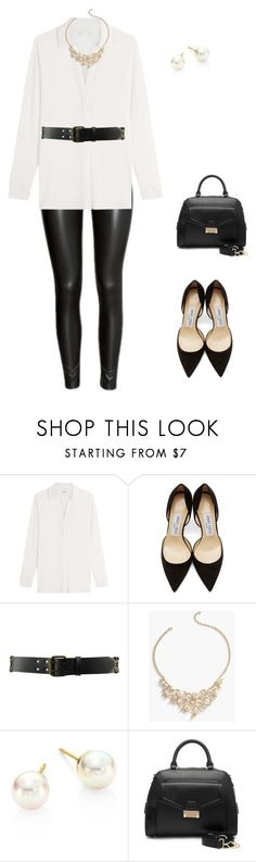 """""""Untitled #426"""" by pearse on Polyvore featuring Vince, Jimmy Choo, Forever 21, Talbots, Majorica and Segolene Paris"""