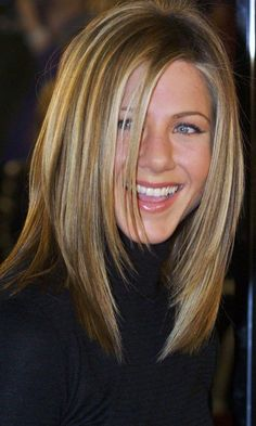 Jennifer Aniston with layered hairstyle