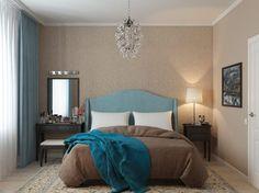 45m2, két szoba - kék árnyalatok, nappali és konyha L alakú térben, nagy előszoba, kényelmes háló