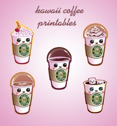 coffe Starbucks clipart. cute and kawaii clipart for by designby2