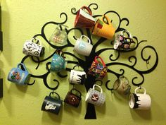 Decorative LaserCut Mug Tree by TwoCreativeMinds on Etsy