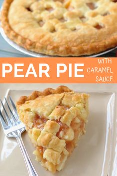 The holidays bring all sorts of pies to the table - pumpkin, pecan, apple, cherry - and I am a fan of each one of them! Today's pie is all about pears, which is another one of my holiday favorite Pie Dessert, Just Desserts, Delicious Desserts, Fruit Recipes, Breakfast Recipes, Pear Cobbler, Canned Pears, Fall Recipes, Pastries