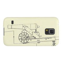 Case-Mate Barely There Samsung Galaxy S5 Case:  Splendid 19th-Century technical drawing of a 24-pounder gun mounted on a wooden barbette-carriage, taken from the official Instruction for Heavy Artillery manual published in 1851 by the War Department in Washington, D.C.It is complimented by a map of Charleston Harbor on the Sleeve's reverse side, as this South Carolinian seaport appeared early in 1861 -- on the very eve of the Civil War.