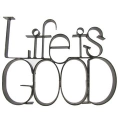 Life is Good Metal Letter Decor Art Craft Store, Craft Stores, Entryway Wall, Metal Letters, Hobby Lobby, Classroom Decor, Decorative Accessories, Life Is Good, Arts And Crafts