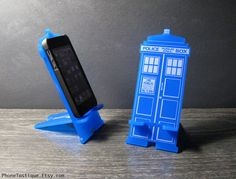 Doctor Who TARDIS iPhone Stand Docking Station by PhoneTastique, $24.00