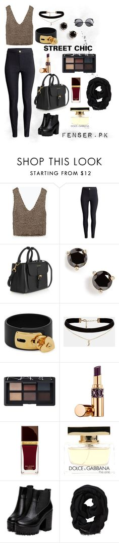 """The Street Chic Style"" by fenser on Polyvore featuring Zara, H&M, Burberry, Kate Spade, Valentino, ASOS, NARS Cosmetics, Yves Saint Laurent, Tom Ford and Dolce & Gabbana Fragrance"