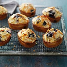 Blueberry and Almond Friands .