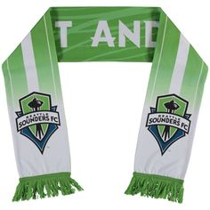 Seattle Sounders adidas Green/White Jersey Hook Sublimated Scarf