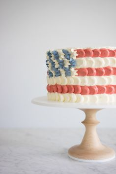 Fourth Of July Cakes, 4th Of July Party, July 4th, American Flag Cake, Wedding Cake Stands, Pastel, Celebration Cakes, Cupcake Cakes, Cupcakes