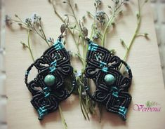 Серьги с бусинами тибетской бирюзы Drop Earrings, Jewelry, Fashion, Jewellery Making, Moda, Jewerly, Jewelery, Fashion Styles, Drop Earring