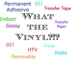 Tutorial on the different types of vinyl you can use with silhouette or cricut die cutting machines