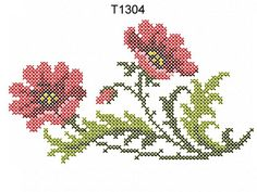 """Poppies in the Cross Stitch Technique"" Cross Stitch Fruit, Mini Cross Stitch, Beaded Cross Stitch, Cross Stitch Flowers, Free Machine Embroidery Designs, Diy Embroidery, Cross Stitch Embroidery, Embroidery Patterns, Cross Stitch Designs"