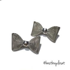 CLEARANCE❗️Stainless Steel Bow Post Earring Fashion Statement Earring.                                   Material: Tin alloy, anti allergic, lead and nickel compliant This bracelet is sure to be a special gift to be enjoyed! Packaged in a lovely Bag!   BRAND NEW WITH TAG SAME DAY OR NEXT DAY SHIPPING  BUNDLE TO SAVE Jewelry Earrings