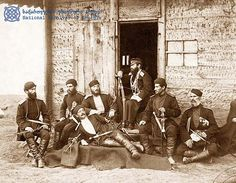 Georgian officers taking a rest in the Russo-Turkish war
